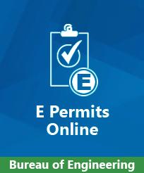 Bureau of Engineering E Permit Service Image
